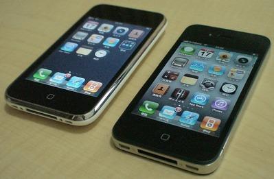 iPhone 4とiPhone 3G
