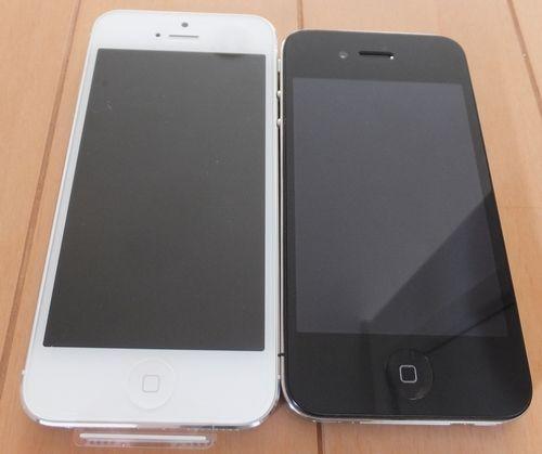 iPhone4とiPhone5比較