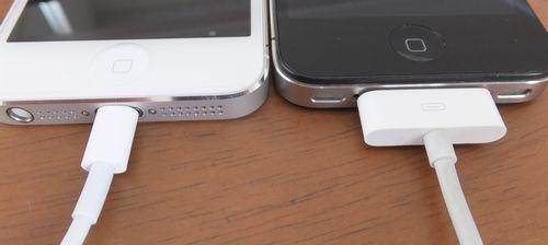 iPhone5とiPhone4のコネクタ比較