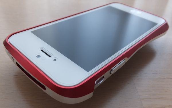 Deff CLEAVE ALUMINUM BUMPER for iPhone 5 フレアーレッド