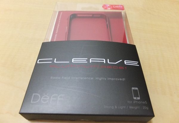 Deff CLEAVE ALUMINUM BUMPER for iPhone 5 パッケージ